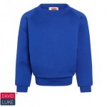 Kirktonholme Primary Royal Blue Crew Neck Sweatshirt