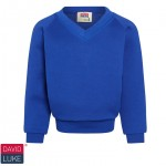 Kirktonholme Primary Royal Blue V-Neck Sweatshirt