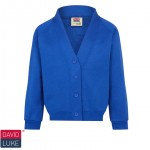 Kirktonholme Primary Royal Blue Sweatshirt Cardigan