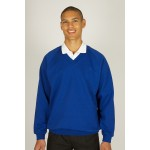 Braidbar Primary Royal V-Neck Sweatshirt