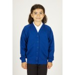 Braidbar Primary Royal Cardigan Sweatshirt